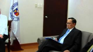 EAM meeting Secretary Albert del Rosario - Restricted Meeting