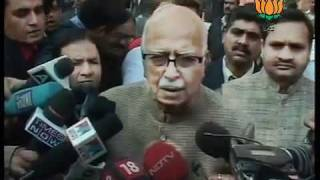 BJP Byte: Parliament Attack (13-Dec) & Pay tribute to Martyrs: Sh. L. K. Advani: 13.12.2011