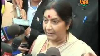 BJP Byte: Parliament Attack (13-Dec) & Pay tribute to martyrs: Smt. Sushma Swaraj: 13.12.2011