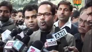 BJP Byte: CEC Regarding UP Election: Sh. Mukhtar Abbas Naqvi: 13.12.2011