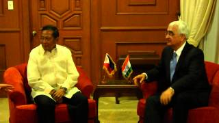 EAM's call on Vice President of Philippines, His Excellency Mr.Binay at Coconut Palace, Manila