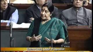 Foreign Direct Investment (F.D.I.): Smt. Sushma Swaraj: 07.12.2011