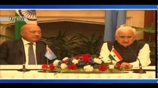 Edited--Visit of Foreign Minister of Fiji to India : Signing of Agreements & Joint Media Interaction