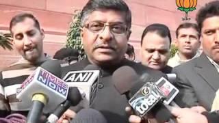 BJP Byte on Procedure of Lokpal Bill: Sh. Ravi Shankar Prasad: 28.12.2011