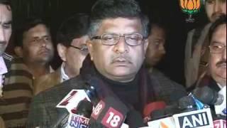 BJP Byte: Core Commitie Meeting of BJP Leaders: Sh. Ravi Shankar Prasad: 30.12.2011