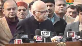 BJP Byte: Meeting of Delegation of BJP with President: Sh. L.K Advani: 05.01.2012