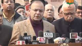 BJP Byte: Meeting of Delegation of BJP with President: Sh. Arun Jaitley: 05.01.2012