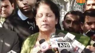 BJP Byte: Memorandum to CEC regarding Uttarakhand Election: Smt. Nirmala Sitharaman: 30.01.2012