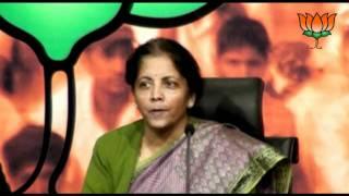 BJP Press: ISRO Devas Deal &  Army Cheif Age Issue: Smt. Nirmala Sitharaman: 30.01.2012