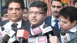 BJP Byte on Salman Khurshid remarks on Minority Quota: Sh. Ravi Shankar Prasad: 03.02.2012