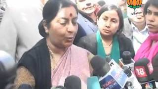 BJP Byte: Demands decisive action on Indian children in Norway: Smt. Sushma Swaraj