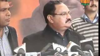 BJP Press: Corruption in UPA Govt.: Sh. Jagat Prakash Nadda