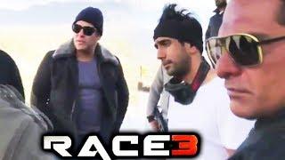 Salman Khan, Amit Sadh, Shera On The Sets Of RACE 3 | Leh Ladakh