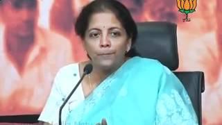 BJP Press: Vilasrao  involvement in illegal land allotment: Smt. Nirmala Sitharaman: 05.04.2012