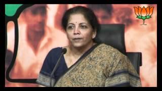 BJP Press: Congress misusing CBI on Dara Singh murder Case: Smt. Nirmala Sitharaman: 07.04.2012