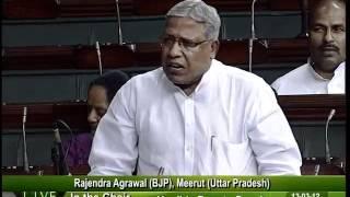Matters of Urgent Public Importance: Sh. Rajendra Agarwal: 13.03.2012