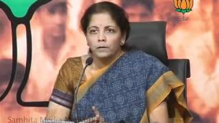 BJP Press: Pawar's letter to PM about Anti-farmer's Policies: Smt. Nirmala Sitharaman: 12.04.2012