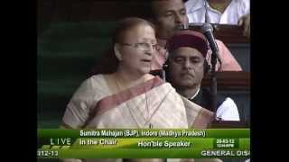 Budget Railways for 2012-13: Smt. Sumitra Mahajan: 20.03.2012