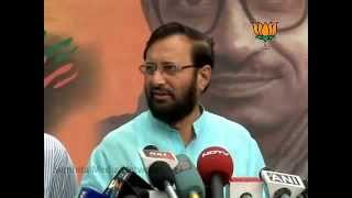 BJP Byte: Sheila Dikshit statement & Delhi MCD Election 2012: Sh. Prakash Javadekar: 14.04.2012