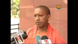 BJP Byte: Water Pollution & Security demands by Mayawati: Sh. Adityanath Yogi: 02.05.2012