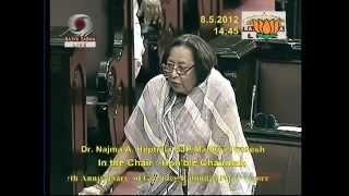 150th birth anniversary of Rabindranath Tagore:Smt. Najma A. Heptulla:08.05.2012:LQ