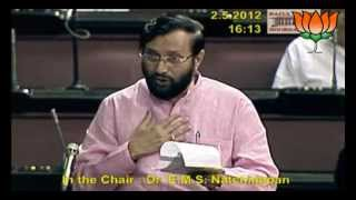 Discussion on the working of the Ministry of Coal: Sh. Prakash Javadekar : 02.05.2012