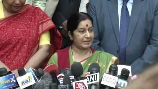 External Affairs Minister's first media interaction after assuming office