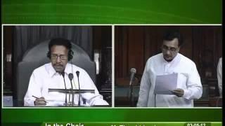 Matters of Urgent Public Importance: Sh. Mahendrasinh Chauhan: 03.05.2012