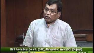Matters of Urgent Public Importance: Sh. Kirit Solanki: 30.04.2012