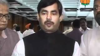 BJP Byte: Parliamentry Meeting of Last Session of Budget: Sh. Syed Shahnawaz Hussain: 22.05.2012