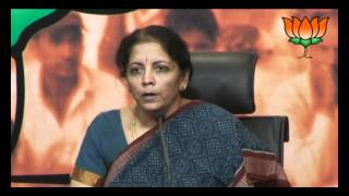 BJP Press: Increased price of CNG in Delhi: Smt. Nirmala Sitharaman: 29.05.2012
