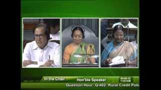 Question Hour: Q-402: Rural Credit Policy: Smt. Rama Devi: 04.05.2012