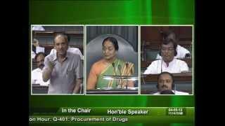 Question Hour: Q-401: Procurement of Drugs: Sh. Kirit Premjibhai Solanki: 04.05.2012