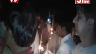 हिन्दु जागरण मंच के कार्यकर्ताओं ने दीप आरती और वंदेमातरम से किया हिन्दु नववर्ष का आगमन