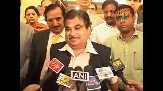 "BJP Byte: Government calling Team Anna ""Anti-national"" : Sh. Nitin Gadkari: 09.06.2012"