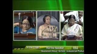 Question Hour: Q-522:  Industrial Pollution: Smt. Rama Devi: 14.05.2012