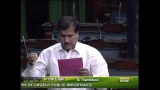 Matters of Urgent Public Importance: Sh. Suresh Angadi: 15.05.2012