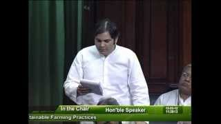 Question Hour: Q-542:  Sustainable Farming Practices: Sh. Varun Gandhi: 15.05.2012
