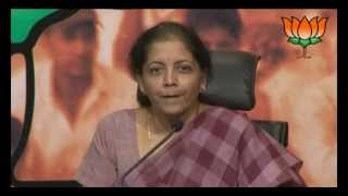 BJP Press: Supreme Court decision on  sub-quota for minorities: Smt. Nirmala Sitharaman: 11.06.2012