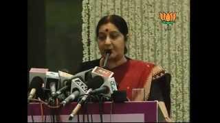Book Launch 'THOSE WERE THE DAYS &THEN' by Mira Govind Advani: Smt. Sushma Swaraj: 12.06.2012