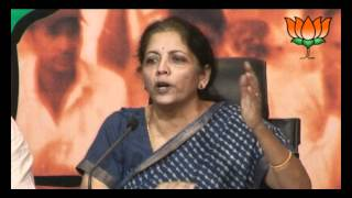 BJP Press: Supreme Court decision on sub-quota for minorities: Smt. Nirmala Sitharaman : 13.06.2012