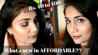 What's New in Affordable | Trying out New Affordable Makeup Products Rs. 40 to 500 | Cuffsnlashes
