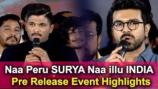 Naa Peru Surya Naa Illu India Movie Pre Release Event Highlights | Naa Peru Surya Movie 2018