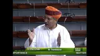 Matters of Urgent Public Importance: Sh. Arjun Ram Meghwal: 16.05.2012