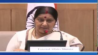 Edited:First Media Briefing By External Affairs Minister (September 08, 2014)