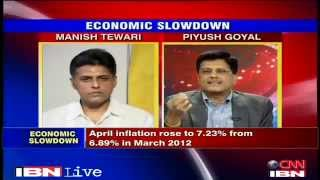 Debate: Is the Government in denial over the economy: Sh. Piyush Goyal: 13.06.2012