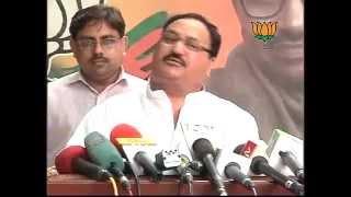 BJP Press: Virbhadra Singh resignation : Sh. Jagat Prakash Nadda: 26.06.2012