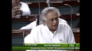 Question Hour: Q-581: Expenditure Under MGNREGS: Smt. Poonam Veljibhai Jat: 17.05.2012
