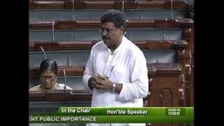 Matters of Urgent Public Importance: Sh. Kirti Jha Azad: 18.05.2012