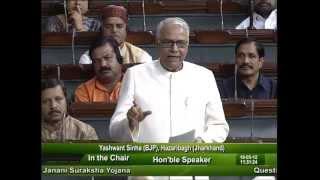 Question Hour: Q-602: Performance of Janani Suraksha Yojana: Sh. Yashwant Sinha: 18.05.2012